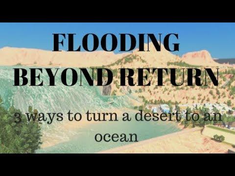 FLOODING A DESERT in 3 destructive ways (Cities: Skylines)