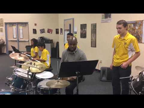 Ulysses Owens Jr. sat in with the Oakleaf Junior High School jazz band