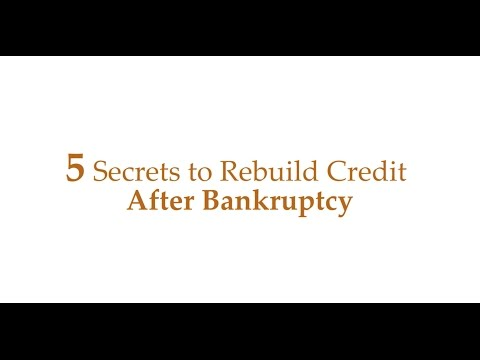 Bankruptcy Secrets To Repair Credit Fast After Bankruptcy