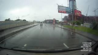 ДТП Приморское шоссе 06 40 21 06 17 Лахта центр