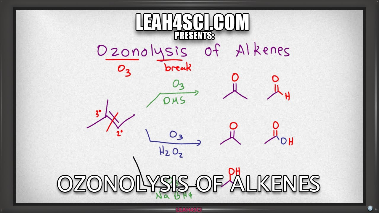 Ozonolysis of Alkenes Reaction, Product Trick, and Mechanism: Alkene  Reactions 12