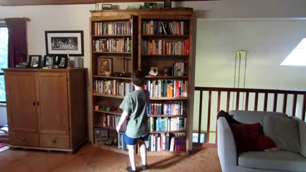 Secret Door Bookcase - YouTube