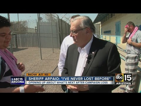 Sheriff Arpaio: 'I've never lost before'