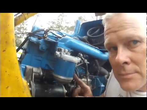 Installing a new Fuel Filter Assembly on the 1981 Ford 555 Backhoe - YouTubeYouTube