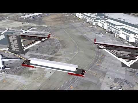 Sea-Tac International Arrivals Facility Walkway Animation