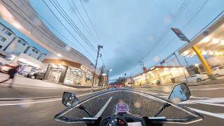[ZX-6R]Insta360oneX2車体マウント(小雨夕方から夜)撮影テスト
