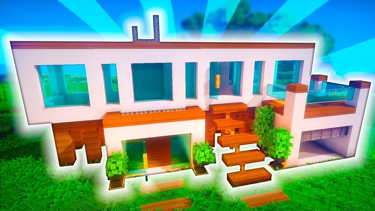 Minecraft casa moderna con oficina y parking tutorial for Minecraft casa moderna keralis