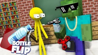 Monster School  AVM SHORTS   ST CKMAN CHALLENGE And Epic BOTTLE FL P CHALLENGE   Mnecraft Animation