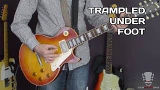 How to play Trampled Under Foot - Led Zeppelin Guitar Lesson