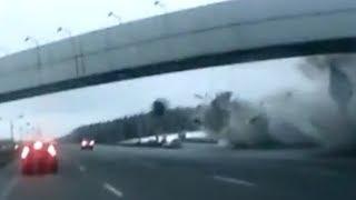 Крушение Ту-204: видео с авторегистратора