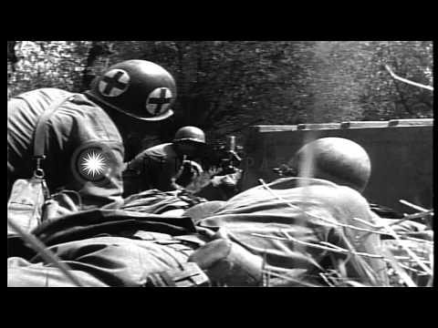 United States 99th Infantry Division soldiers in Neustadt, Germany during World W...HD Stock Footage