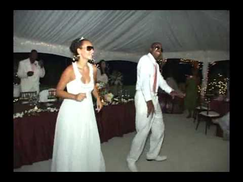 Bryan and Etelka Bailey's wedding dance - Jamaican Style