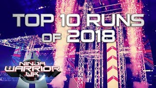 The 10 MOST WATCHED Runs of 2018 | Ninja Warrior UK