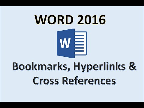 Word 2016 - Bookmark, Cross Reference & Hyperlink - How To Add Bookmarks References Hyperlinks In MS