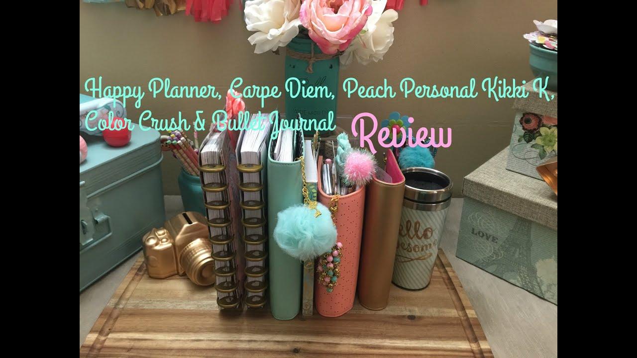 Happy Planner, Carpe Diem, Personal Peach Kikki K, Color ...