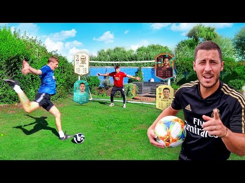 FOOTBALL vs FIFA 20 ft. EDEN HAZARD