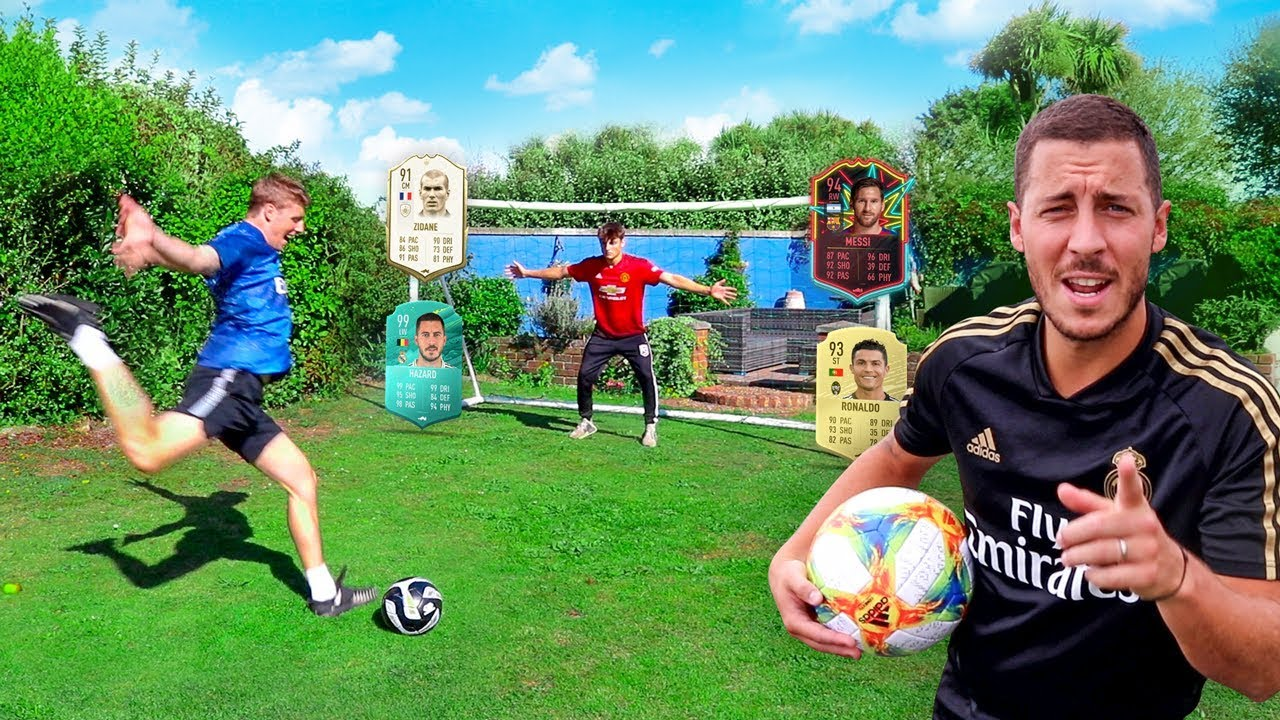 FOOTBALL vs FIFA 20 ft. EDEN HAZARD
