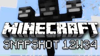 Minecraft: Invisibility, Colored Armor, Wither Boss and More! (Snapshot 12w34a Overview)