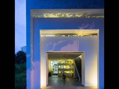 Minimalis Modern House Design with Beautiful Inner Court in Can Tho, Vietnam