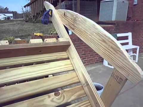 How to build an Adirondack Rocking Chair.
