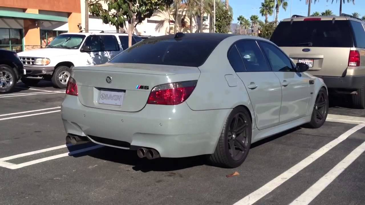bmw e60 m5 with dinan exhaust youtube. Black Bedroom Furniture Sets. Home Design Ideas