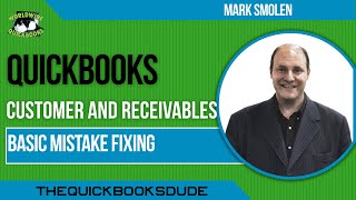 Learn QuickBooks video 9   basic mistake fixing