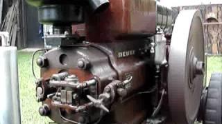 Deutz MAH220 (1939) warm start and slow running