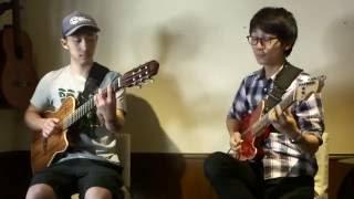 麻生洋平さん( AcoSoundOrg 画面右 )の一番弟子、高木博志さん( 画面左)...