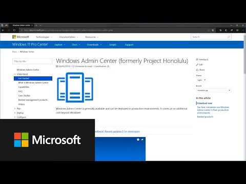 How to get started with Windows Admin Center