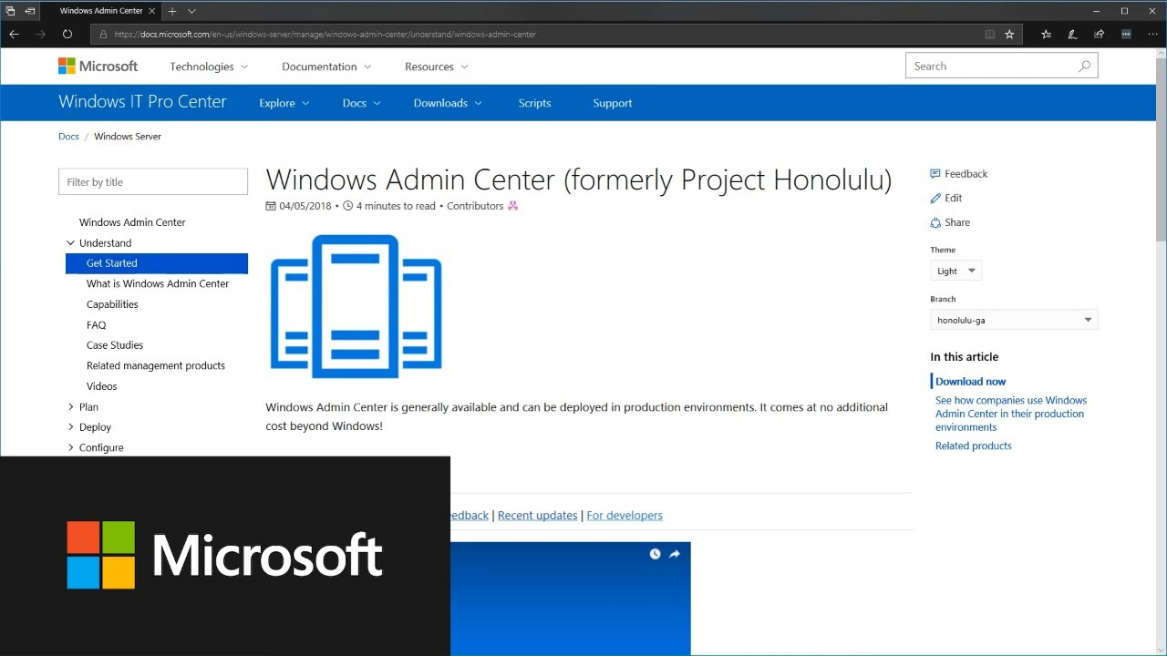 Windows Admin Center Overview | Microsoft Docs
