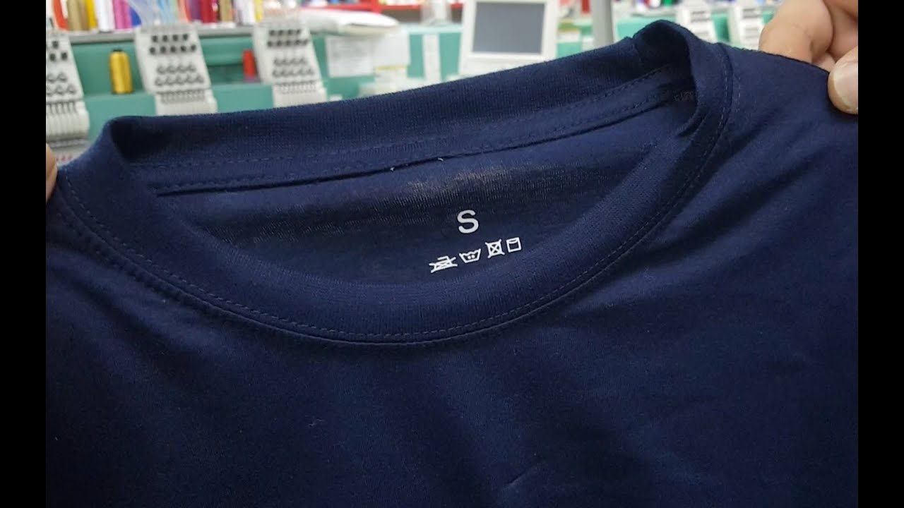 How To Re Label T Shirts By Adding Using Iron On Neck Labels Youtube