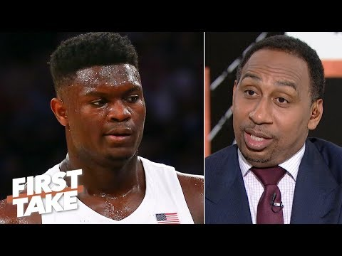 Zion's 'recklessness' concerns Stephen A.: 'It's a torn knee waiting to happen' | First Take