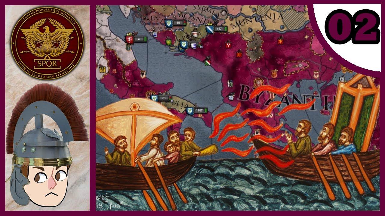 CK2: Holy Fury - SPQR #2 - Greek Fire + Pirates = Disaster