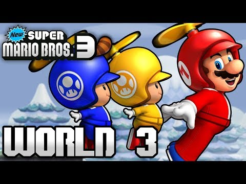 New Super Mario Bros. 3+ Part 3 - World 3 (4 Player)