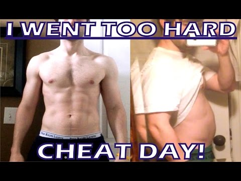 I WENT TOO HARD - CHEAT DAY - Abs Before and After - Fitness - Food - Eating - Challenge