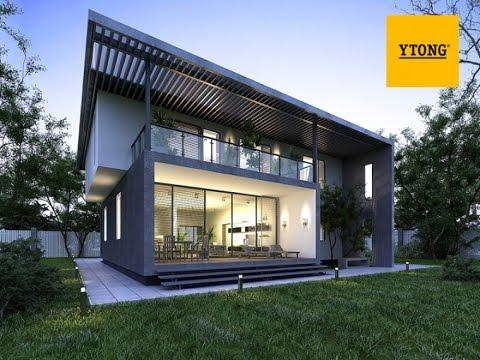 Типовой проект дома из газобетона под ключ - Штутгарт