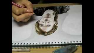 part 1 the hunger games katniss everdeen jennifer lawrence time lapse drawing