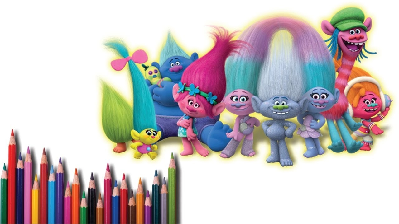 Coloring Pages Trolls : How to paint trolls poppy branch learning coloring pages for