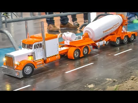 MIND BLOWING RC Trucks in Action on a HUGE display!