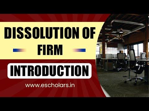 Video #1 | Dissolution of firm (Part: 1)