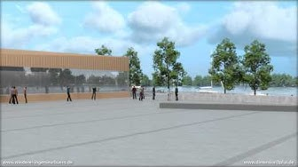 3D Animation Inselhalle Lindau mit Parkhaus