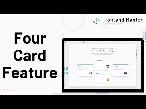 Four Card Feature Section - Design To HTML/CSS