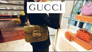 Посетила бутик Gucci в Милане сумки из питона и крокодила обувь аксессуары