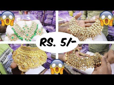 Jewellery Wholesale Market In Sadar Bazar | Bridal Jewellery Collection 2018 | Artificial Jewellery