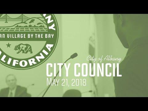 Albany City Council  - May 21, 2018
