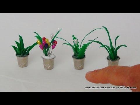 C mo hacer maceteros con dedales y hojas de plantas con - Plantas de plastico ikea ...