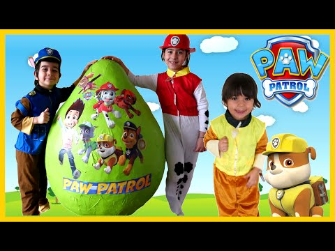 PAW PATROL TOYS Giant Egg Surprise Opening Nickelodeon Paw Patrol Kids Video GIANT EGG Surprise Toys