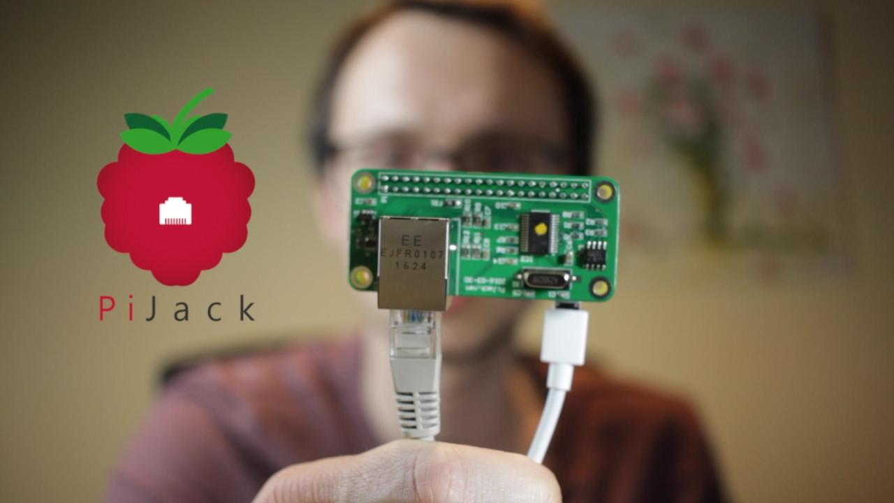 PiJack Ethernet Hat for Raspberry Pi Zero