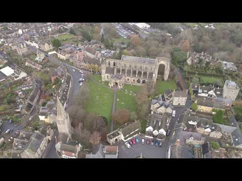 """Malmesbury - my favourite """"Cotswold"""" town, by drone - Winter 2018"""