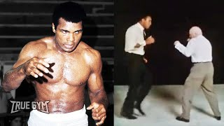 Как побить Мухаммеда Али / Кас Д'Амато и Али легкий спарринг / Это видео вошло в историю бокса